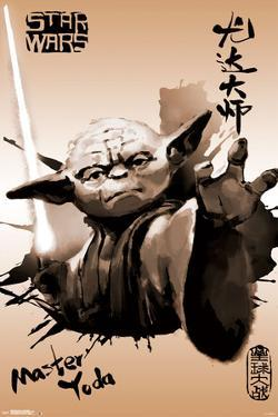 Star Wars- Yoda Sumi-E