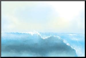 Painting Of A Great Sea Wave by stari