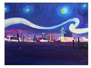 Starry Night In Hamburg by M Bleichner