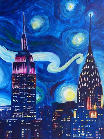 Starry Night In New York by M Bleichner