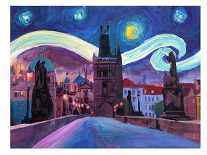 Starry Night In Prague by M Bleichner