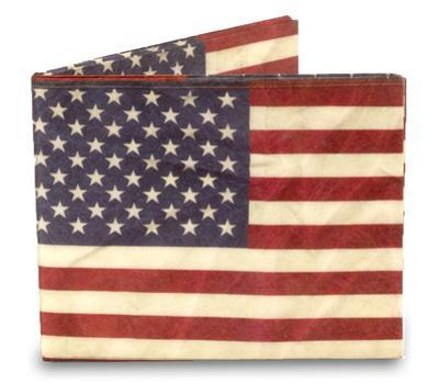 Stars and Stripes Tyvek Mighty Wallet