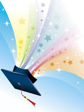 Stars Coming from Graduation Cap