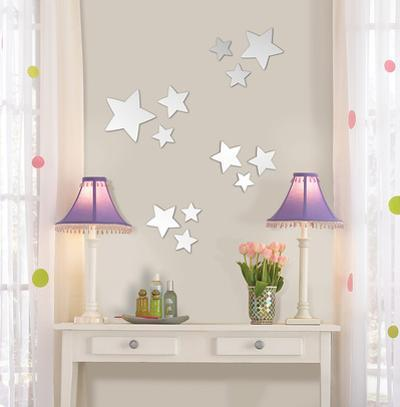 Stars Wall Mirror Decal Sticker