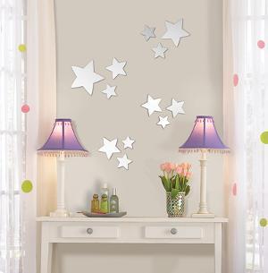 Stars Wall Mirror Decal Sticker