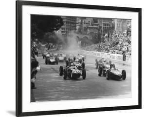 Start of 1961 Monaco Grand Prix, Stirling Moss in Car 20, Lotus 18 Who Won the Race