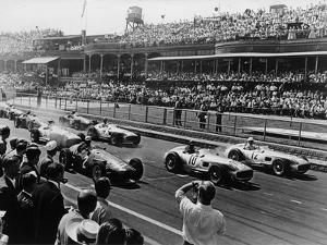 Start of the British Grand Prix, Aintree, Liverpool, 1955