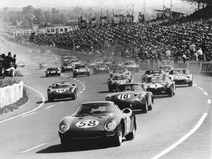 Start of the Le Mans 24 Hours, France, 1964