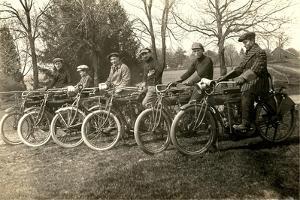 Start of Vintage Bicycle Race