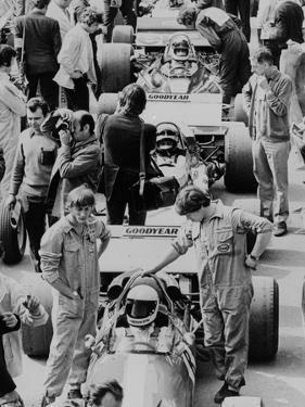 Starting Grid, British Grand Prix, Silverstone, Northamptonshire, 1971