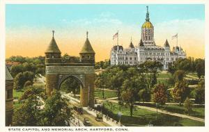 State Capitol, Memorial Arch, Hartford, Connecticut