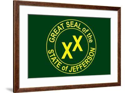State of Jefferson Official Flag--Framed Art Print