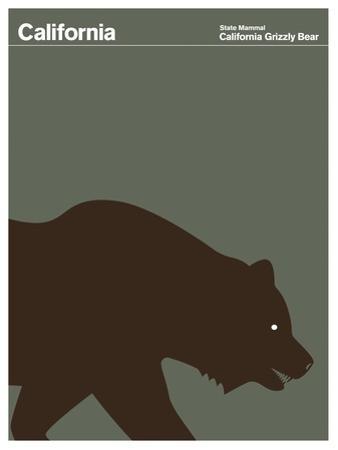State Poster CA California