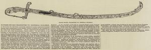 State Sword Presented to General Kalergi