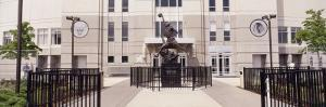 Statue in Front of a Building, Michael Jordan Statue, United Center, Chicago, Illinois, USA