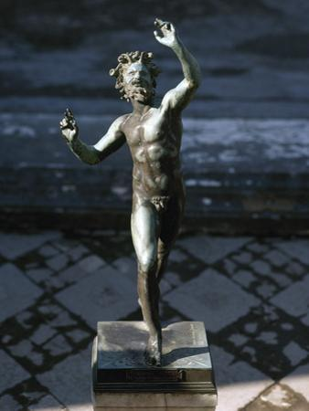Statue of a Dancing Faun, Bronze, House of the Faun, Pompeii