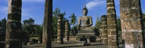 Statue of Buddha in a Temple, Wat Mahathat, Sukhothai, Thailand