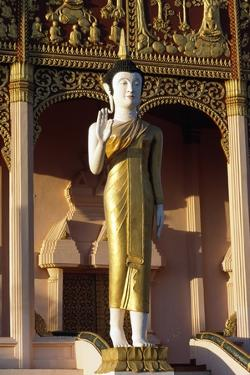 Statue of Buddha, Wat That Luang Neua Pagoda, Vientiane (Viangchan), Laos, 20th Century