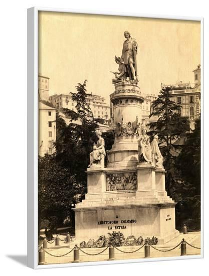 Statue of Christopher Columbus--Framed Photographic Print
