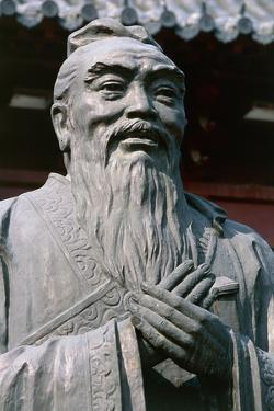 Statue of Confucius, Fuzimiao Temple, Nanjing, Jiangsu, China, 11th Century, Detail