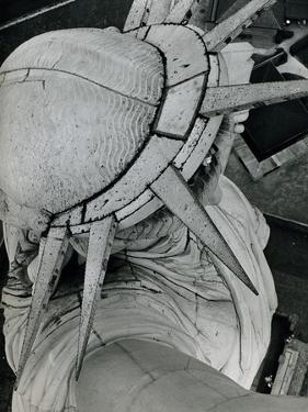 Statue of Liberty, Aerial Photo, 1940s