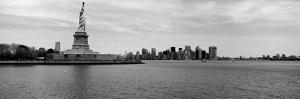 Statue of Liberty with Manhattan Skyline in the Background, Ellis Island, New Jersey