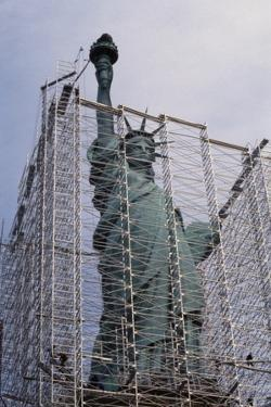 Statue of Liberty with Scaffolding