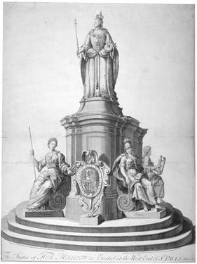 Statue of Queen Anne Erected as a Celebration of the Completion of St Paul's Cathedral, 1713