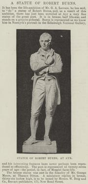 Statue of Robert Burns, at Ayr
