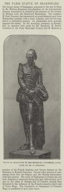 Statue of Shakspeare in the Boulevard Haussmann, Paris, Given by Mr W Knighton