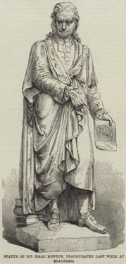 Statue of Sir Isaac Newton, Inaugurated Last Week at Grantham