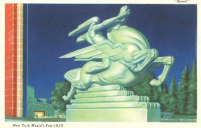 Statue of Speed, New York World's Fair, 1939