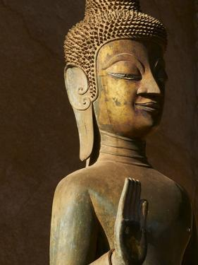Statue of the Buddha, Haw Pha Kaeo, Vientiane, Laos, Indochina, Southeast Asia, Asia