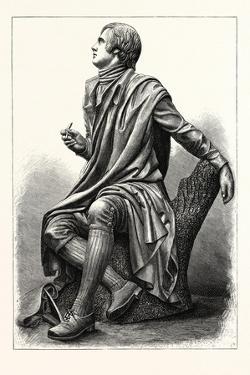 Statue of the Scottish Poet Robert Burns, 1759 1796