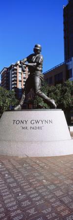 Statue of Tony Gwynn at Petco Park, San Diego, California, USA