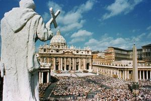Statue Overlooking St. Peters Square