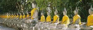 Statues of Buddha in a Temple, Wat Yai Chai Ya Mongkhon, Ayuthaya, Thailand