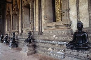 Statues of Buddha, Wat Phra Kaew, Buddhist Temple, Vientiane (Viangchan), Laos, 16th Century