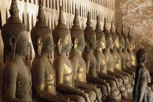 Statues of Buddha, Wat Si Saket, Vientiane (Viangchan), Laos, 19th Century
