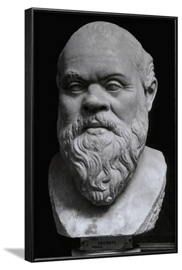 Statuette of Socrates--Framed Photographic Print