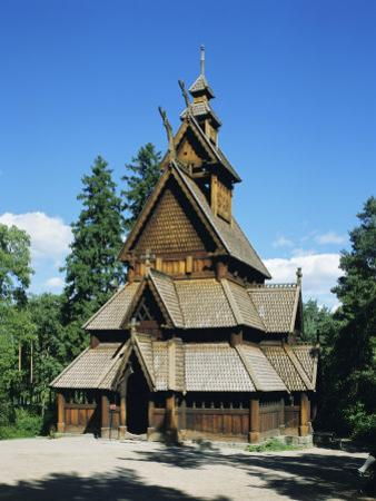 Stave Church, Folk Museum, Bygdoy, Oslo, Norway, Scandinavia, Europe