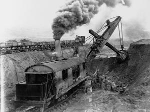 Steam Shovel Digging Ditch for Western Pacific Railroad