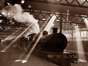 Steam Train Leaving Euston Station, April 1928