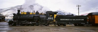 Steam Train on Durango and Silverton Narrow Gauge Railroad, Colorado, USA