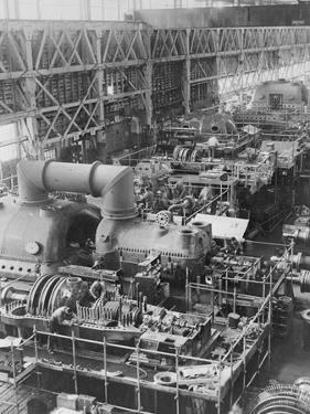 Steam Turbines Being Assembled