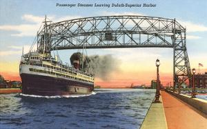 Steamer, Duluth, Superior Harbor, Minnesota