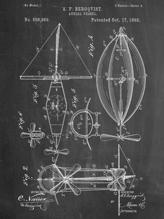 Steampunk Aerial Vessel 1893 Patent