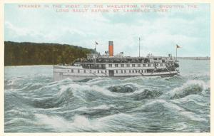 Steamship in Rapids on St. Lawrence River, New York