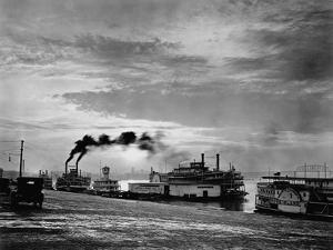 Steamships on the Ohio River