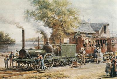 Steamtrain (1850) in New Jersey